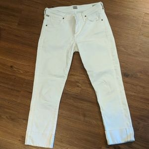 Citizens of Humanity white cropped denim
